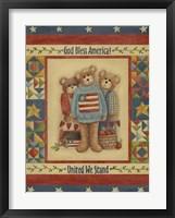 Framed God Bless America - Bears