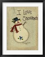 I Love Snowmen Framed Print