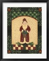 Framed Red Antique Santa