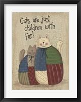 Framed Children With Fur