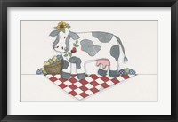 Framed Country Cow