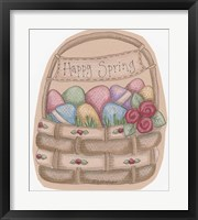 Framed Happy Spring Basket
