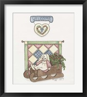 Framed Sled Bunny