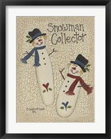 Framed Snowman Collector