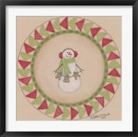 Framed Snowman Circle