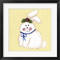 Framed Bunny With Rose