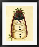 Framed Box Snowman