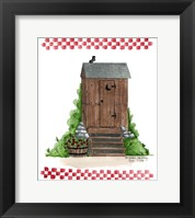 Framed Wooden Outhouse