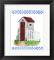 Framed Grey Outhouse