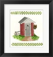 Framed Brick Outhouse