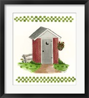 Framed Brick Outhouse
