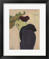 Framed Women Seen in Profile with a Green Hat, c.  1890-189