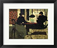 Framed Two Women Under a Lamp, 1892