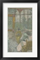Framed Two Women Embroidering Under a Veranda, 1912