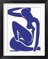 Framed Blue Nude I