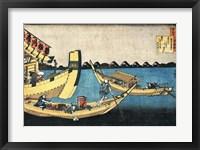 Framed Summer Sight on the River Sumida
