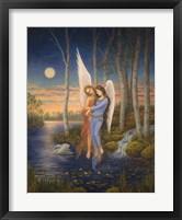 Framed Moon Light Angel