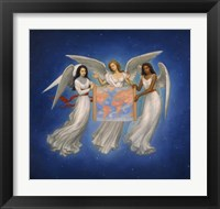 Framed Angels with map