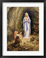 Framed Our Lady Of Lourdes