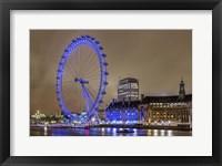 Framed Blue Ferris Wheel