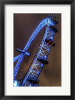 Framed London Eye Lit up in Blue