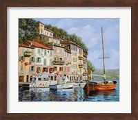 Framed La Barca Rossa Alla Calata