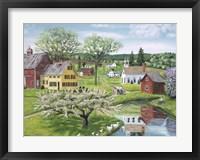 Framed Apple Blossom Time