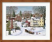 Framed Christmas Sleigh