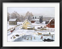 Framed Ice In The Country