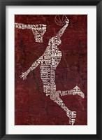 Framed Type Basketball Red