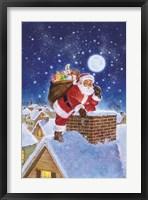 Framed Santa On Rooftop
