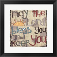 Framed Bless You and Keep You