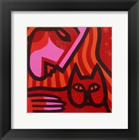 Cat Woman Framed Print