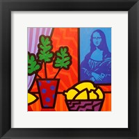Framed Still Life With Matisse and Mona Lisa