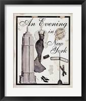 Framed Evening In New York
