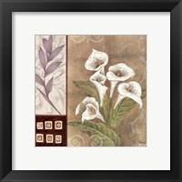 Framed Fleur Blanc I