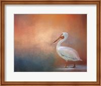 Framed Pelican Walk