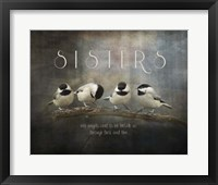 Framed Sisters Chickadees
