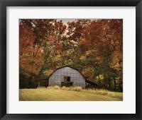 Framed Autumn Barn