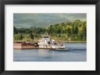 Barge On The River 2 Framed Print