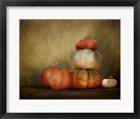 Framed Pumpkins Still Life