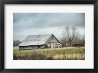 Framed Old Gray Barn