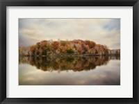 Autumn At Lake LaJoie 4 Framed Print