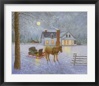 Framed Wintery Night