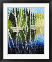 Framed Birch Tree Reflections