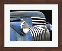 Framed Chevy Grill Blue