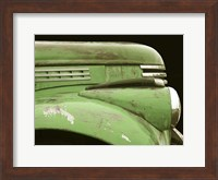 Framed Chevy Streamline - Apple Green