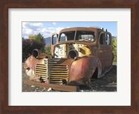 Framed Old Wine Truck