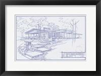 301 Cypress Dr. Blueprint Framed Print