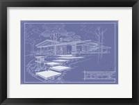 Framed 301 Cypress Dr. Blueprint - Inverse